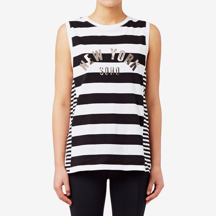 Shop now: Stripe Tank. #seedheritage #seedsport #sport #woman