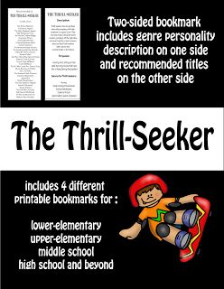 Mrs. ReaderPants: Genre Personality Profile: The Thrill-Seeker