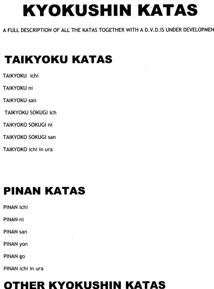 karaté kyokushin kata 1 - Recherche Google