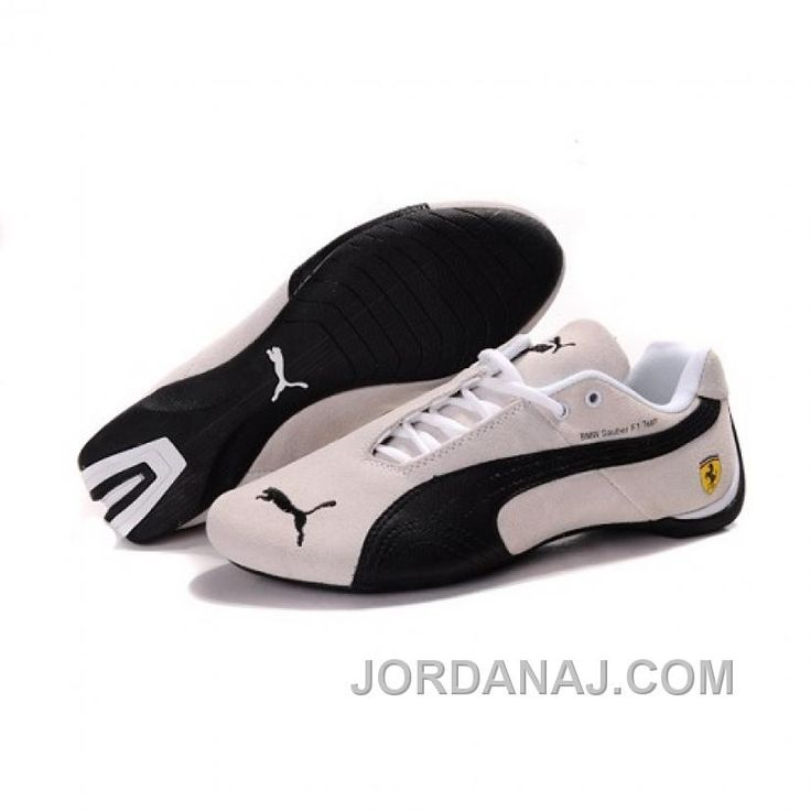 Best Drop Shipping Puma Ferrari Mens casual shoes White black