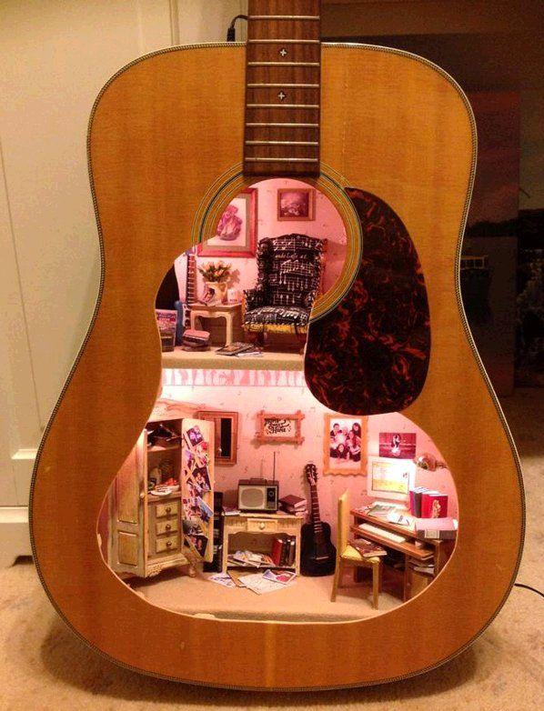 8 best guitar shelf images on pinterest guitars guitar shelf and guitar dollhouse acoustic guitarscraft ideasdiy ideasideas paraproject solutioingenieria Images