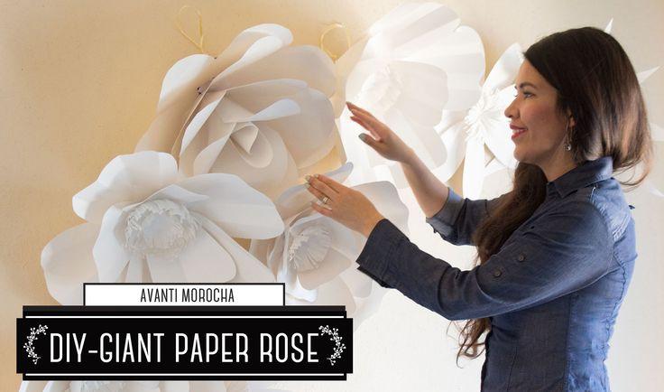 "DIY How to Make a Paper Flower Backdrop ""Rose"" / Como Hacer un Mural de ..."