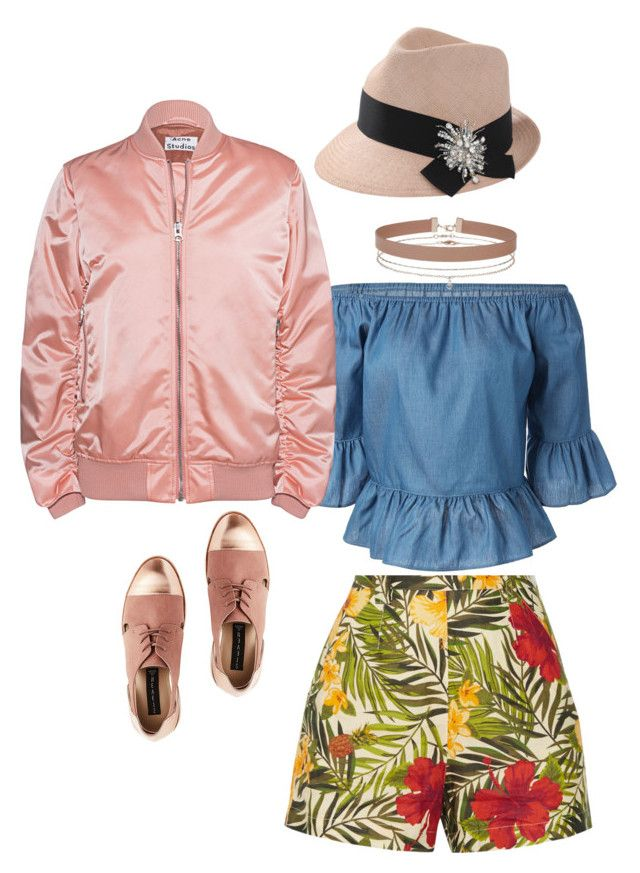Glam lunch at the sailing club by penkreitto on Polyvore featuring polyvore fashion style Acne Studios Miguelina Miss Selfridge Brunello Cucinelli clothing