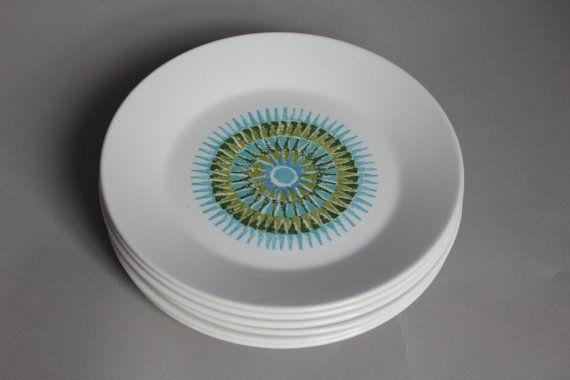 J & G Meakin Aztec side plates