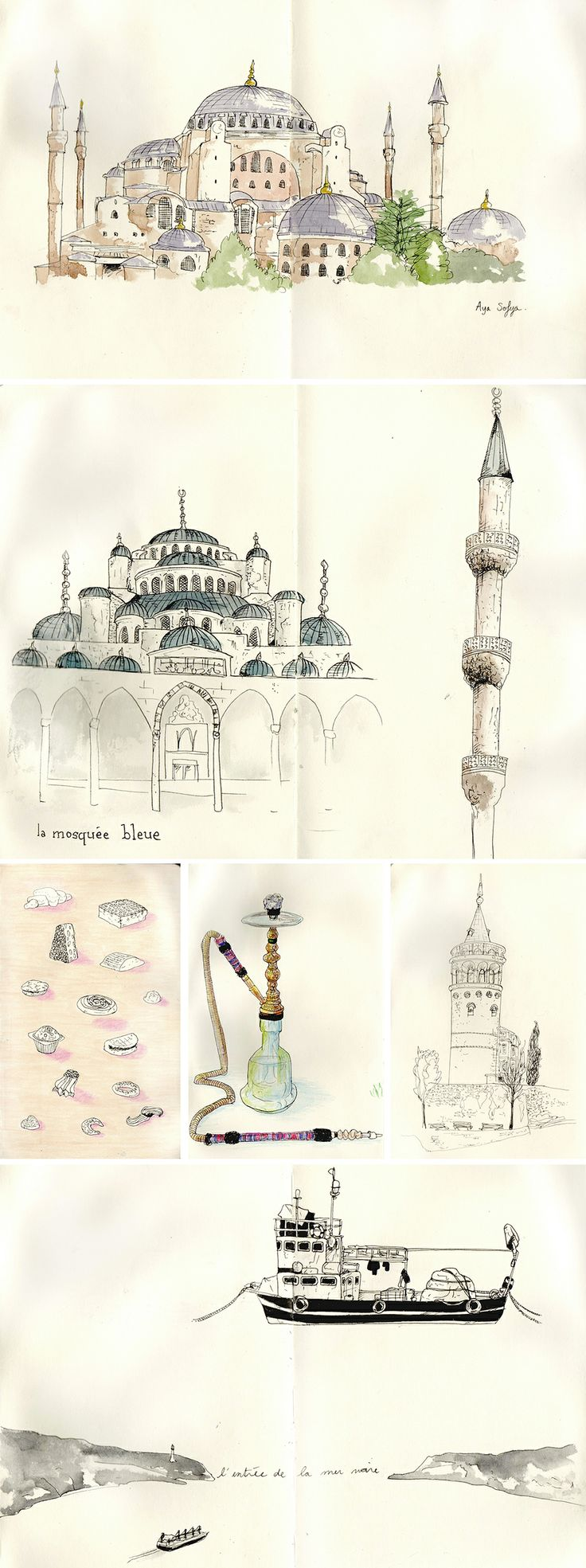 sketches of Istanbul, Turkey