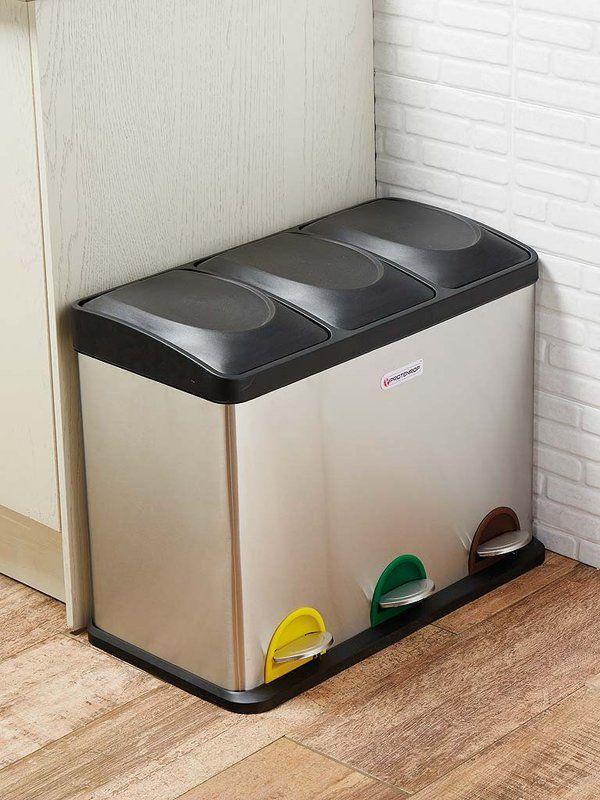 #Reciclar #basura:  Cubo para un reciclaje adecuado