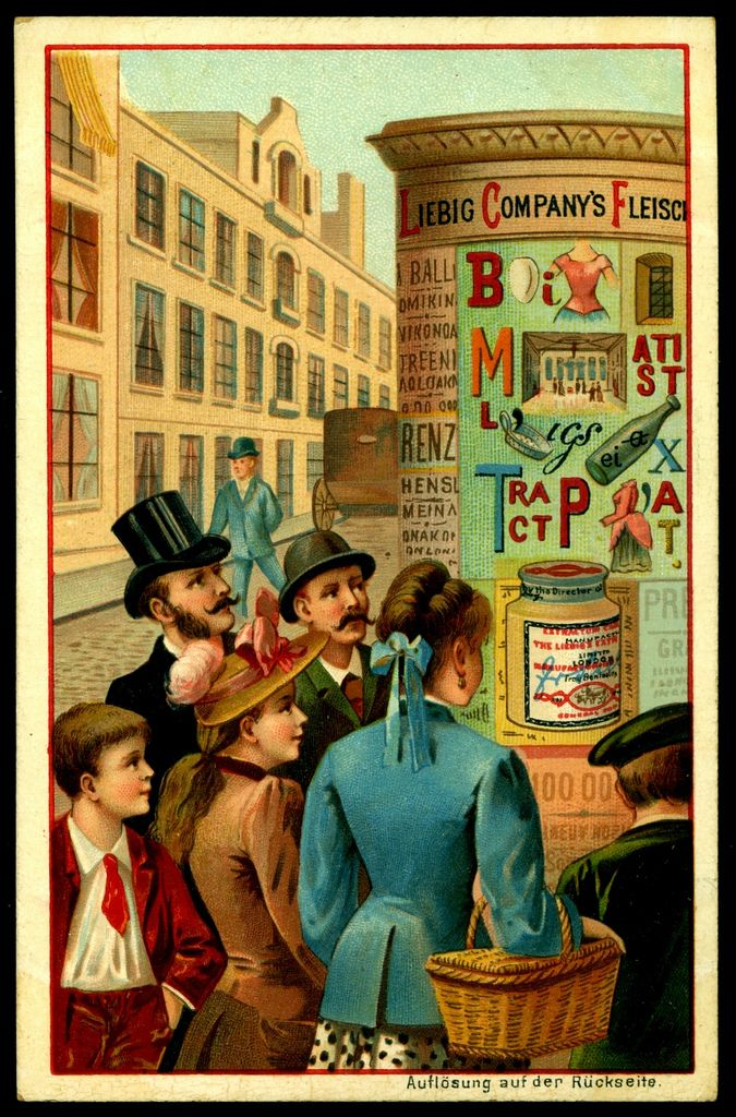 """Liebig's Beef Extract  """"Word Pictures""""  German Issue, 1892"""