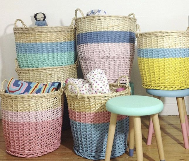 11 DIY Ways to Update Storage Baskets via Brit + Co.