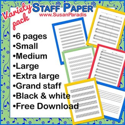 Staff Paper Variety Pack Piano Teaching Ideas Pinterest Music