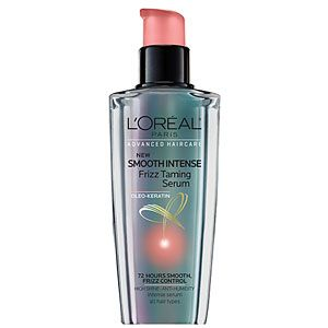 L'Oreal Paris Advanced Haircare Smooth Intense Frizz Taming Serum won raves from testers for its non-greasy texture and ease of use. #loreal