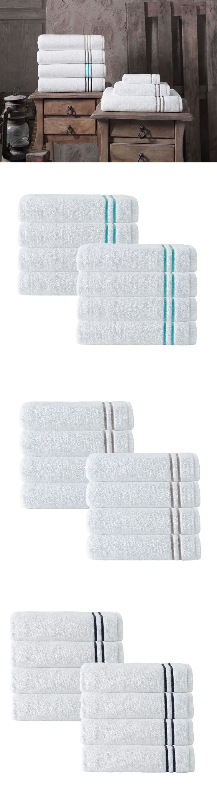 Towels and Washcloths 40587: Enchante Home Broderie Luxurious Turkish Premium Cotton Hand Towels Set Of 8 Pcs -> BUY IT NOW ONLY: $49.99 on eBay!
