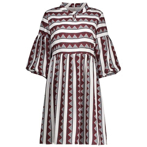 Red 5xl Stripe A Line Plus Size Dress ($16) ❤ liked on Polyvore featuring dresses, stripe dress, white dress, a line shape dress, plus size dresses and striped dresses