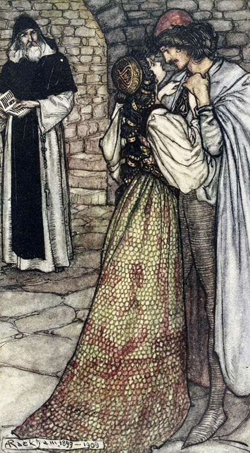 'Tales from Shakespeare' by Charles & Mary Lamb; illustrated by Arthur Rackham. Published 1909 by J. M. Dent & Co., London.