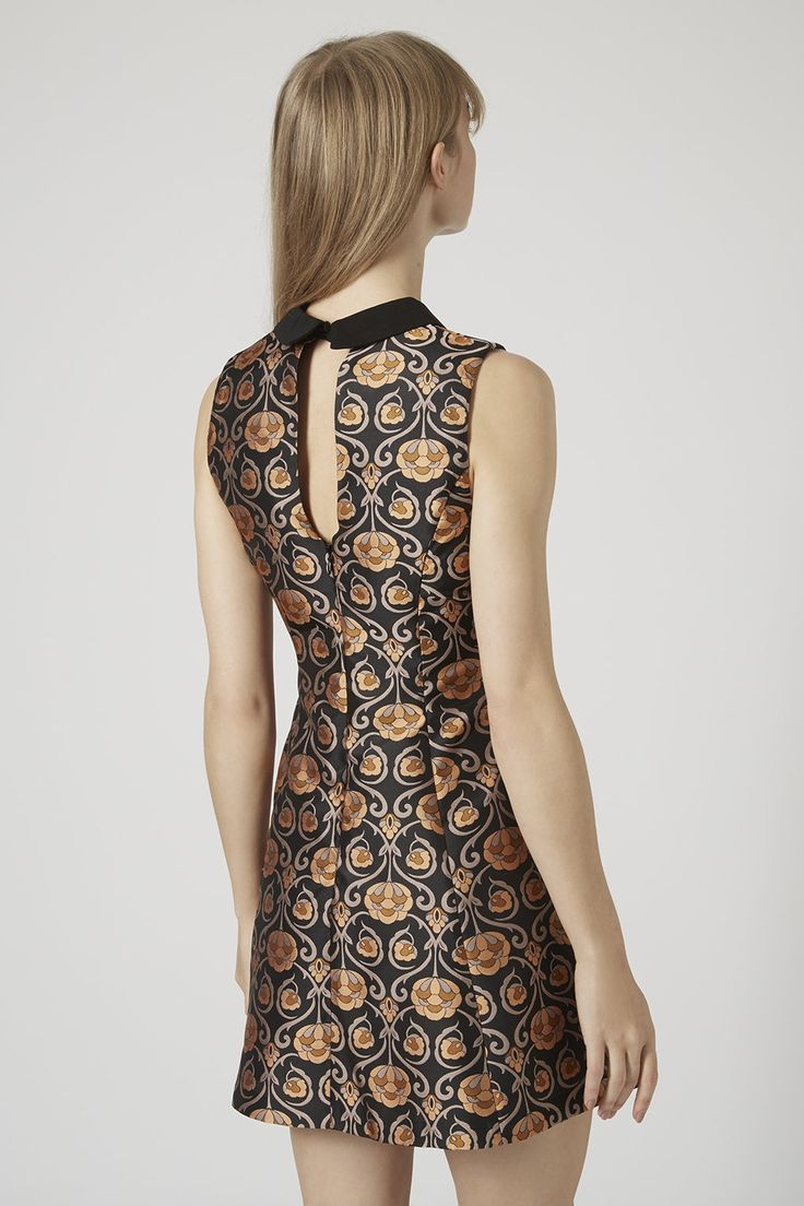 Collared Jacquard Shift Dress