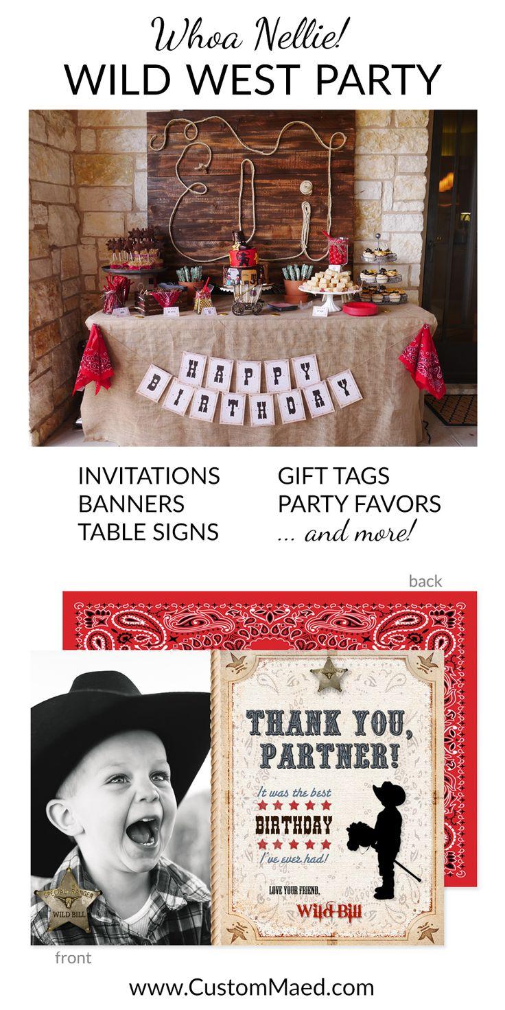 Magnificent Wild West Birthday Invitations Elaboration - Invitations ...