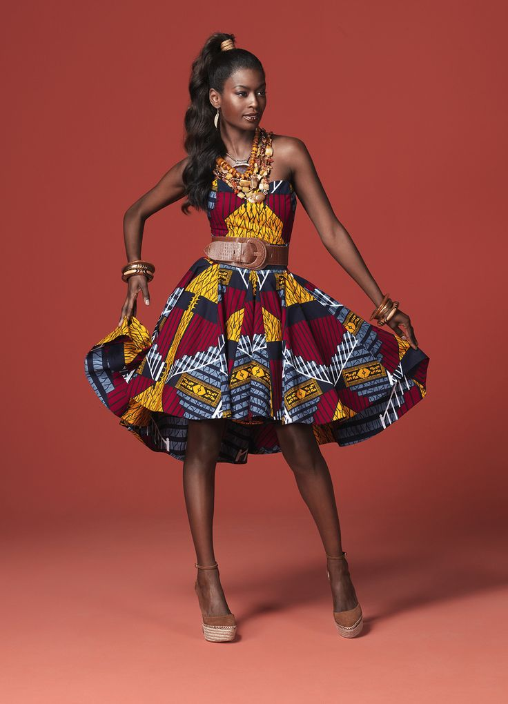 A party look from Vlisco's 2013 'Celebrate' collection |
