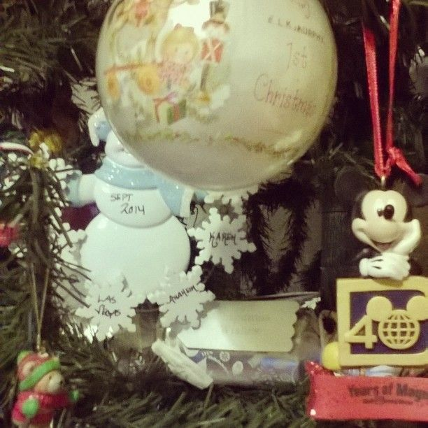 It's a miracle that the Baby's 1st  Christmas bauble has remained safe since 1991