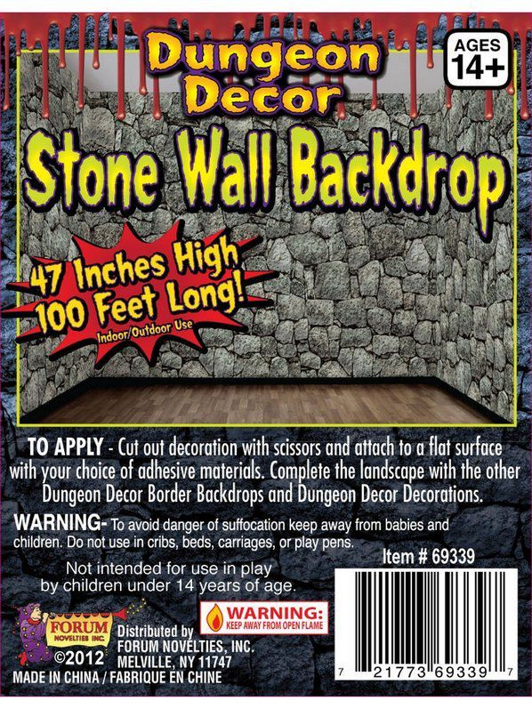 Check Out Scary Stone Wall Backdrop 2018 Halloween Decorations Props Costume Supercenter From Costume Super Center With Images Stone Wall Backdrop Wall Backdrops