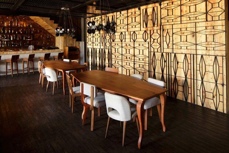 jakarta-based designer alvin tjitrowirjo of alvinT studio has completed 'porterhouse', a contemporary fusion restaurant located in pantai indah kapuk,  indonesia.
