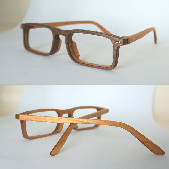 Handmade wooden glasses Frame Brother β por Mingshi en Etsy