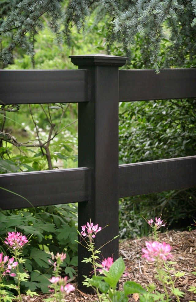 illusions pvc vinyl post and rail fence post panels