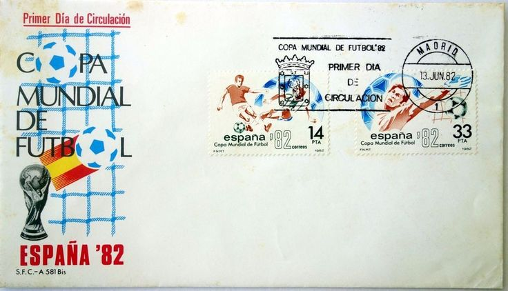 First Day Cover Marking The 1982 FIFA World Cup In Madrid Spain Soccer    eBay