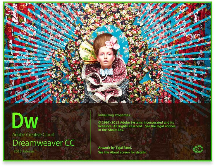 Adobe Dreamweaver CC 2015 Release Splash Screen