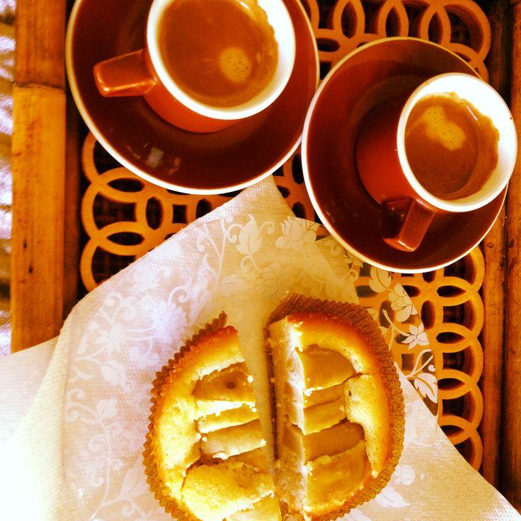 apple almond tart with espresso     visit: http://www.quattrogattiaustin.com/