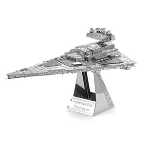 These metal Star Wars Kits are some of the coolest models we've ever seen. They are small, they are metal, and you have to totally put them together yourself. No glue needed - just lots of patience!