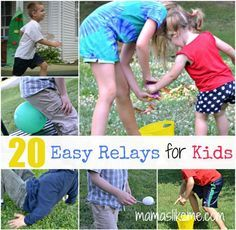 Mamas Like Me: 20+ Relay Races for Kids...get ready for fun this summer!