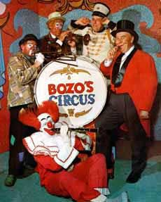 clown picture - Bob Bell, as Bozo the Clown, in an early photo from Bozo's Circus