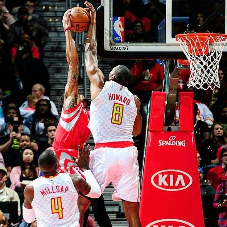 SUPERMAN Howard (pitaron falta al final). Esta noche los Cavaliers han perdido su 1er partido de la temporada vs Hawks 106-110 (Foto: Hawks) #NBA #Howard #Hawks #Basketball