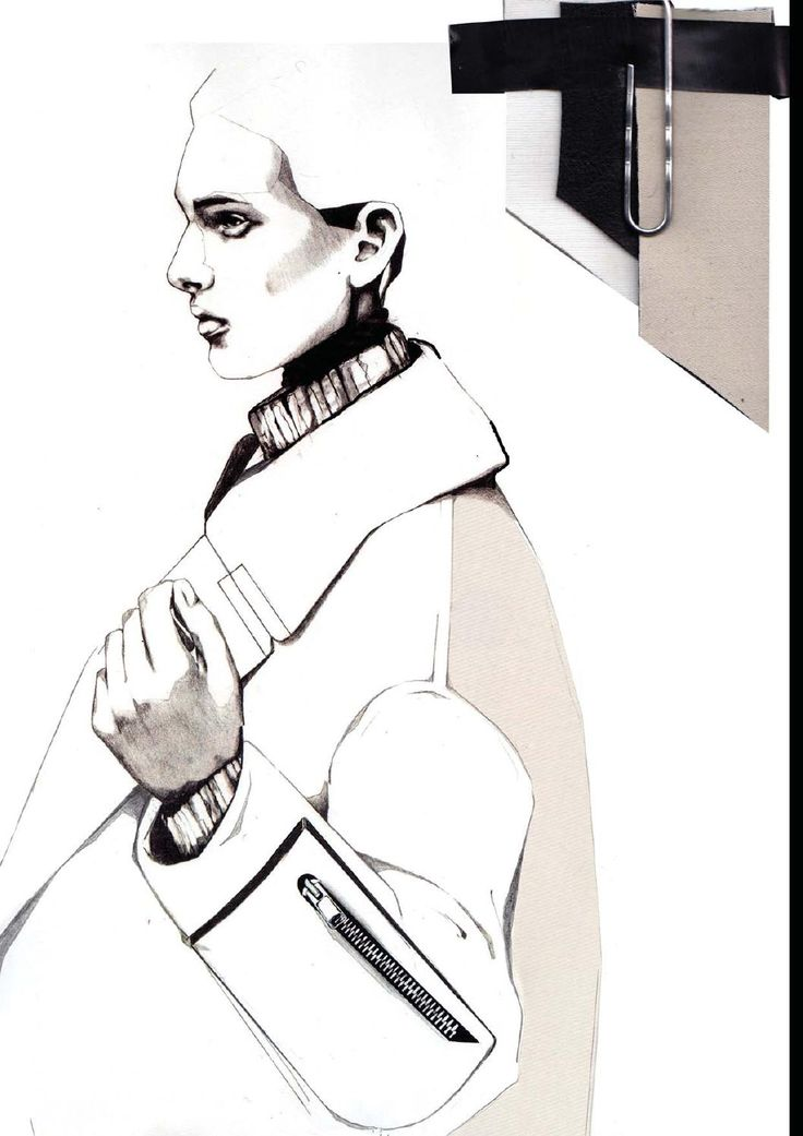 Fashion Sketchbook - fashion design illustration & fabrics; fashion student work; fashion portfolio // Andrew Voss