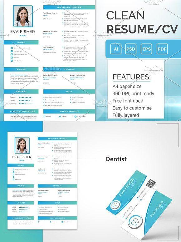 printable resume for dentist resume templates pinterest resume