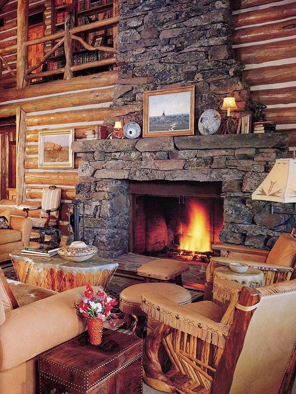 125 best images about rustic homes on pinterest rustic for Log cabin fireplaces pictures