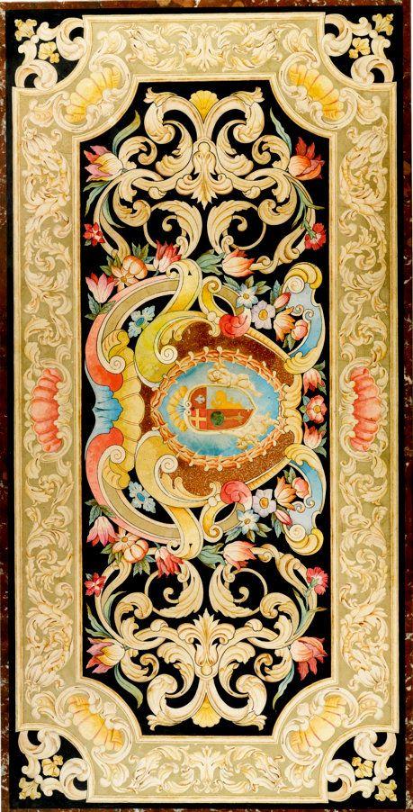 An Italian Baroque style scagliola panel 19th century Estimate  15,000 — 20,000  USD