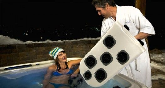 Spa Massage Jets: When your date arrives, they can choose which massage jet they want if you have a Bullfrog Spa. JetPaks snap in and out in seconds. (Photo: Bullfrog Spas.)   http://www.longislandhottub.com/longisland_hot_tub_spa_blog/?p=1975