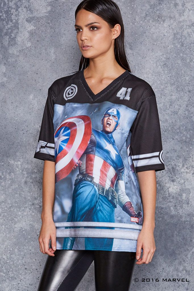Team Captain America Touchdown ($120AUD) by BlackMilk Clothing