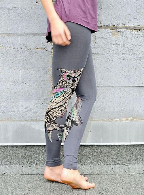 Owl leggings. Pinned by www.myowlbarn.com