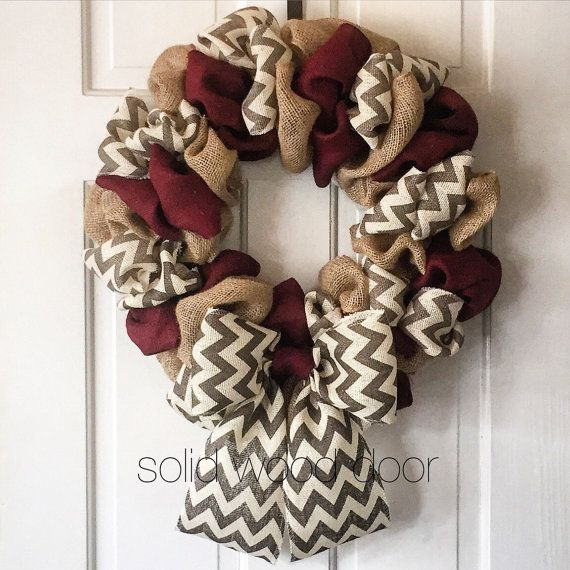 22 Summer Wreath Aggie Football Burlap Wreath by SolidWoodDoor