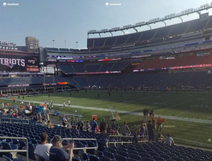 Gillette Stadium Section 106 Seat Views Seatgeek Throughout The Incredible Gillette Stadium Virtual Seating Chart Gillettestadiumco Gillette Stadium The Incredibles Seating Charts
