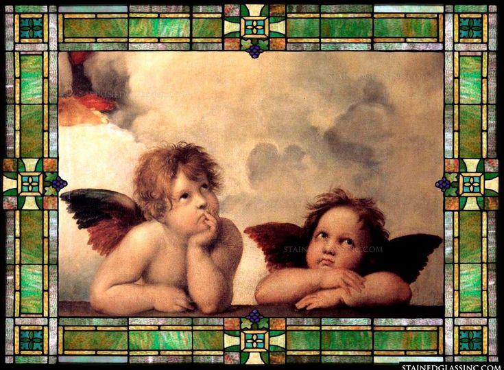 Sistine Madonna Cherubini by Raphael