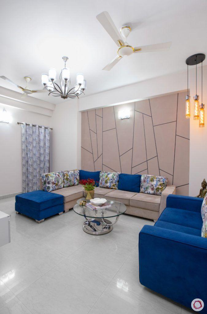 Peek Into Playful Budget Friendly Interiors Hall Interior
