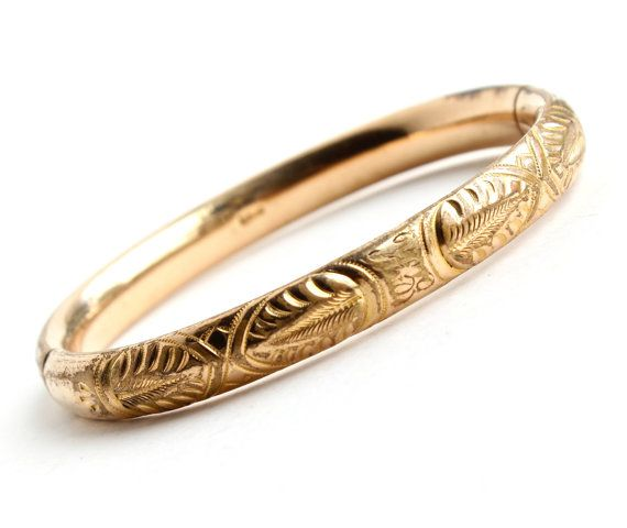 Antique Gold Filled Hinged Bracelet  Edwardian by MaejeanVINTAGE