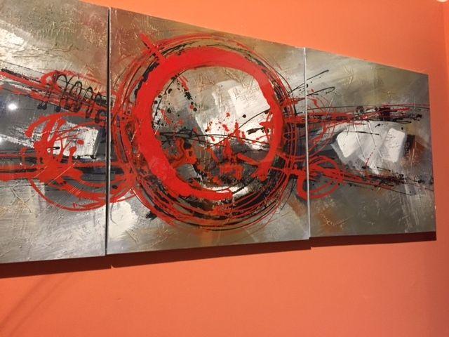 Set di 3 dipinti ad olio su tela. Vesti di originalità la tua #casa! #design #quadri #giussanishop #tuttoperlacasa #stone