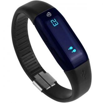 Prestigio Inteligentny licznik kroków - stylowy i łatwy w użyciu gadżet elektronicznegy wyposażony w Bluetooth (R) Smart, dzięki czemu informacje o Twojej aktywności jest nadawany do smartfona lub tabletu. Dzięki bezpłatnej aplikacji PRESTIGIO Smart Pedometer śledzi Twoje kroki, ilość spalonych kalorii, przebyty dystans, ponadto pomaga monitorować postępy i motywuje do poprawy wydajności. Posiada funkcję zegarka.