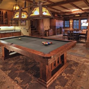 Hubby & boys would love this pool table to fit Craftsman style home.