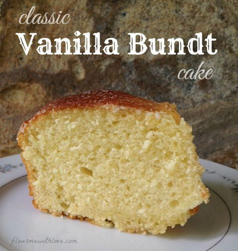 Classic Vanilla Bundt Cake is a golden cake, and is simplicity at its best. #yearofthebundt