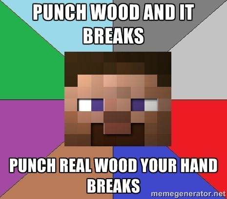 Why is real life not Minecraft?