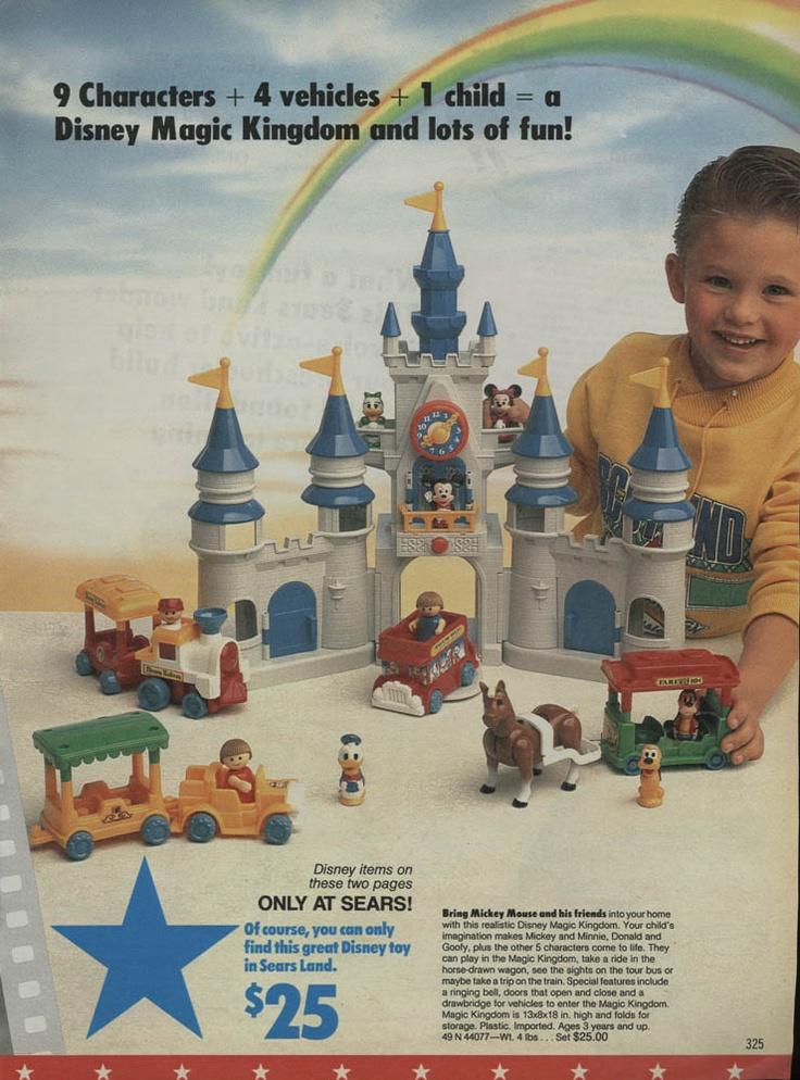 1988 Sears Wishbook - I HAD THIS! Love it!: Kingdom Playset, Childhood Memories, Sears Wishbook, Playset 1988, Disney Magic Kingdom, Vintage Toys, 1988 Sears